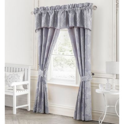 Waterford® Linens Veranda 87-Inch Rod Pocket Window Curtain Panel Pair in Lavender