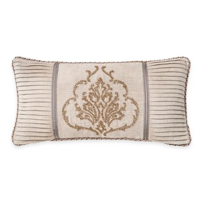Waterford® Linens Darcy Oblong Throw Pillow in Ivory