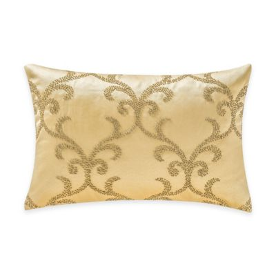 Waterford® Linens Juliette Beaded Boudoir Throw Pillow in Gold