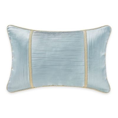 Waterford® Linens Juliette Pleated Oblong Throw Pillow in Blue