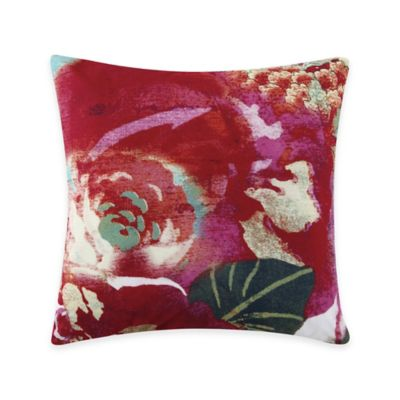 Tracy Porter Wild Flowers Printed Square Throw Pillow