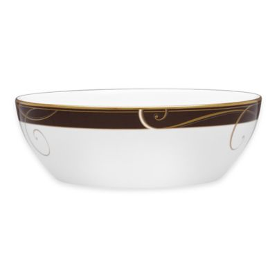 Noritake® Golden Wave Chocolate Round Vegetable Bowl