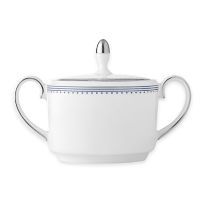 Vera Wang Wedgwood® Grosgrain Indigo Covered Sugar Bowl