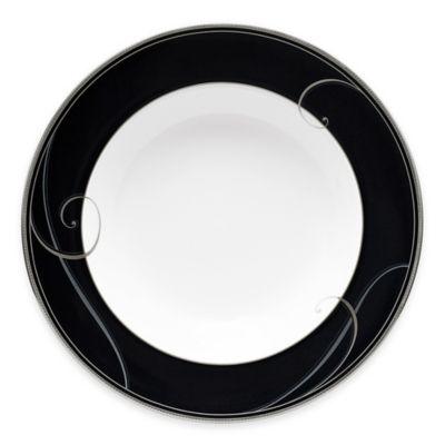 Noritake® Platinum Wave Ebony Rim Soup Bowl