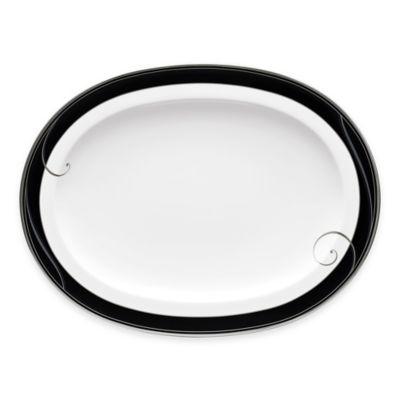 Platinum Wave Oval Platter