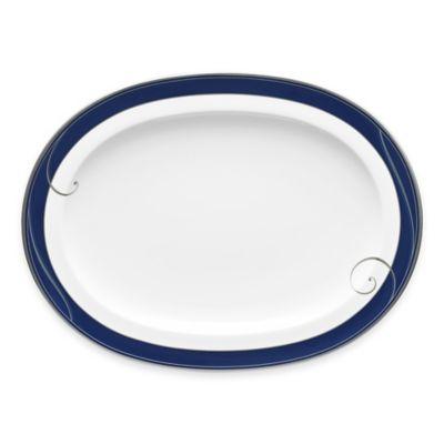 Noritake® Platinum Wave Indigo Oval Platter