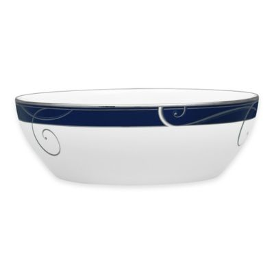 Noritake® Platinum Wave Indigo Round Vegetable Bowl