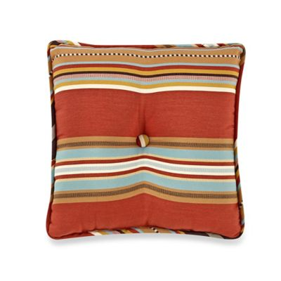 HiEnd Accents Calhoun Striped Tufted Pillow