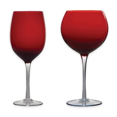 Certified International 8-Piece Red and White Wine Glass Set in Cobalt