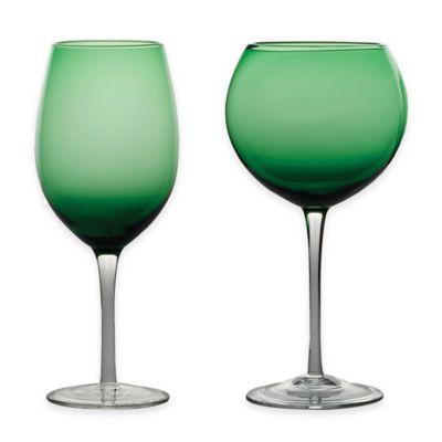 Green Wine Glass Sets