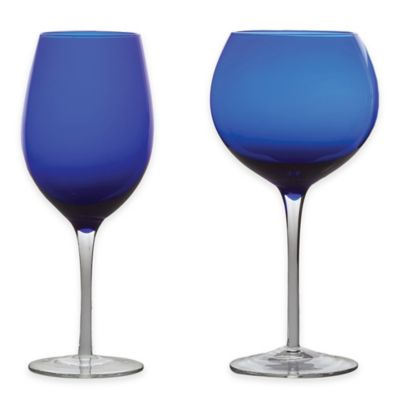 Buy Shatterproof Red Wine Glass In Cool Blue From Bed Bath