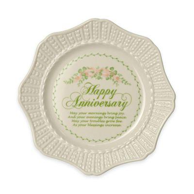 """Belleek """"Happy Anniversary"""" Plate"""