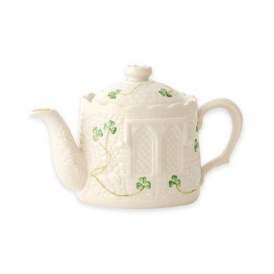 Belleek Shamrock Castle Teapot