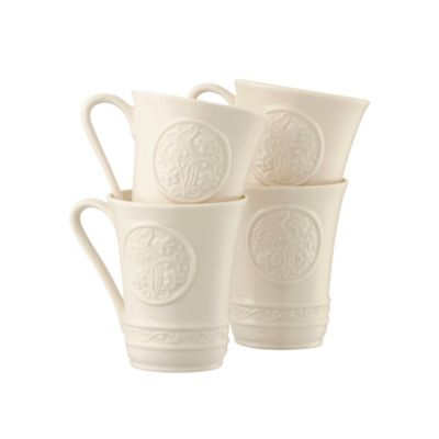 Belleek Irish Craft Mugs (Set of 4)