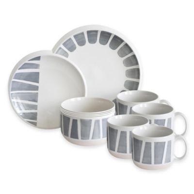 Baum Staxx Tangiers 16-Piece Dinnerware Set in White