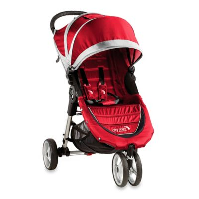 Baby Jogger® City Mini® 3-Wheel Single Stroller in Crimson/Grey