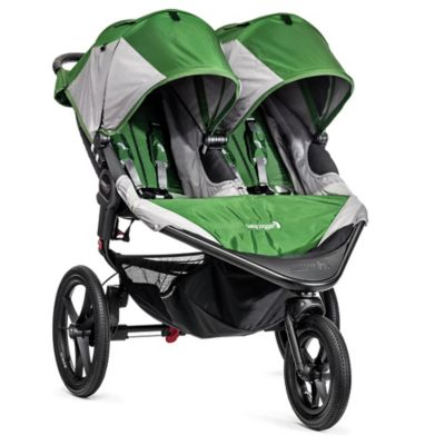 Jogging Strollers > Baby Jogger® Summit™ X3 Double Stroller in Green/Grey