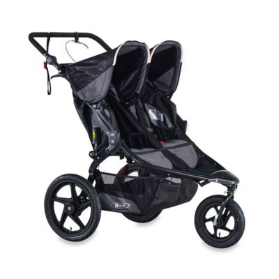 bob revolution flex duallie double stroller in lagoon bob strollers duallie infant car. Black Bedroom Furniture Sets. Home Design Ideas