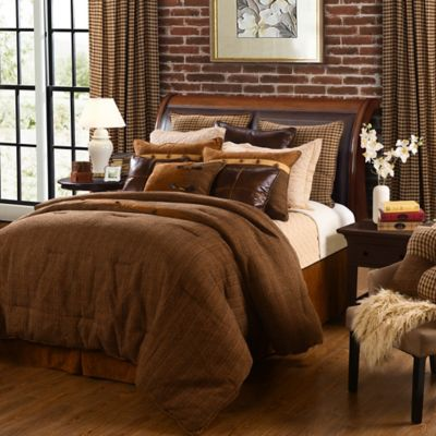 HiEnd Accents Crestwood 5-Piece King Comforter Set in Brown