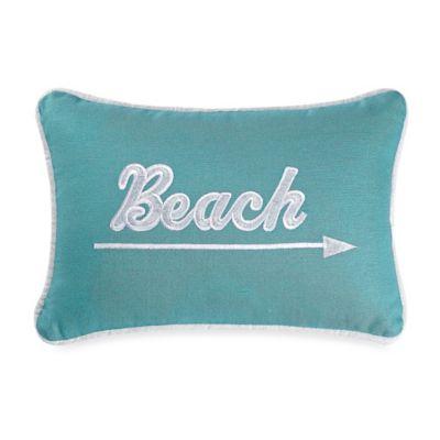 Catalina Beach Boudoir Throw Pillow in Aqua/White