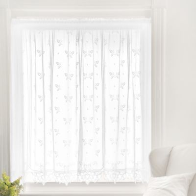 Heritage Lace® Heirloom 63-Inch Rod Pocket Sheer Window Curtain Panel in White