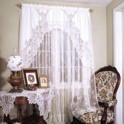 Heirloom Window Swag Pair in White