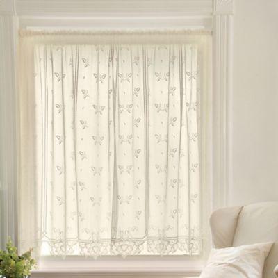 Heritage Lace® Heirloom 45-Inch Sheer Window Curtain Tier in Ecru
