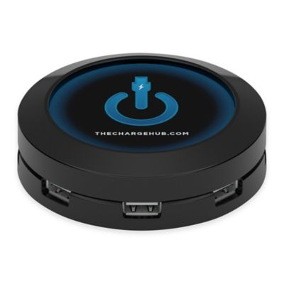 ChargeHub™ 7-Port USB Universal Charging Station in Black