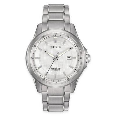 Citizen Eco-Drive Men's Dress Bracelet Watch in Super Titanium™