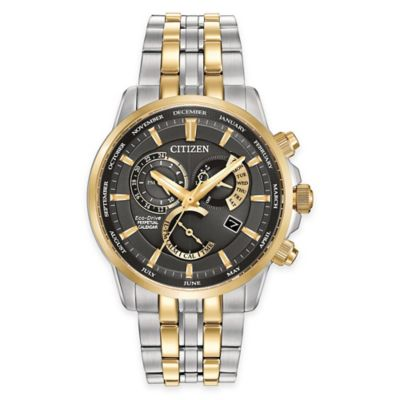 Citizen Eco-Drive Calibre 8700 Men's Perpetual Calendar Watch in Two-Tone Stainless Steel