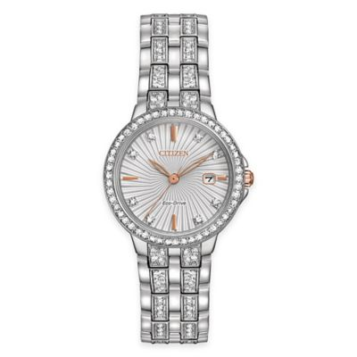 Citizen Ladies' Silhouette Watch in Two-Tone Stainless Steel with Swarovski® Crystals