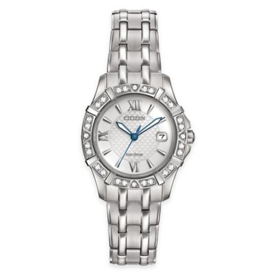 Citizen Eco-Drive Diamond Collection Ladies' Bracelet Watch in Stainless Steel