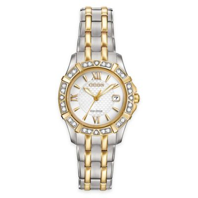 Ladies Eco-Drive Diamond Accent Two-Tone Watch