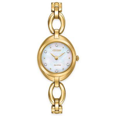 Citizen Eco-Drive Ladies' Silhouette Open Links Bracelet Watch in Goldtone Stainless Steel