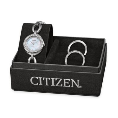 Citizen Ladies' Silhouette Swarovski® Crystal Watch with 3 Interchangeable Bezels
