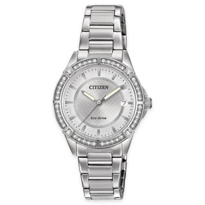 Citizen Drive from Eco-Drive Ladies' 34mm Swarovski® POV Watch in Stainless Steel