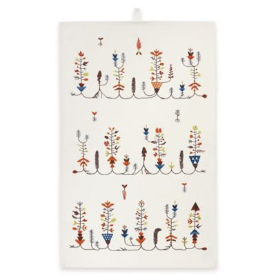 iittala Sarjaton Varpu Tea Towel in White