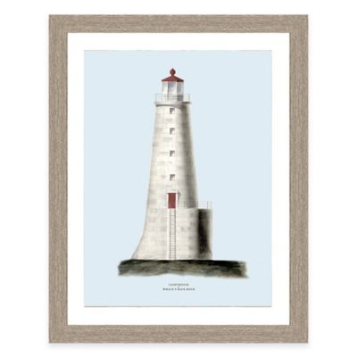Framed Giclée Blue Lighthouse Print II