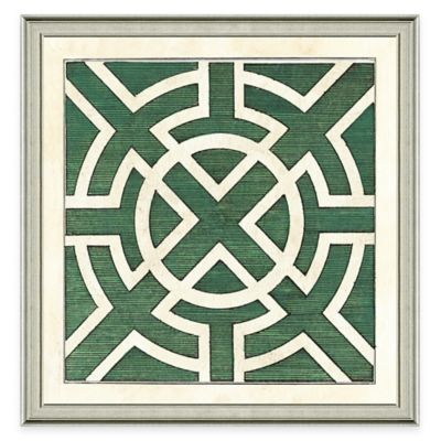 Framed Giclée Green Garden Plan III Art Print Wall Art