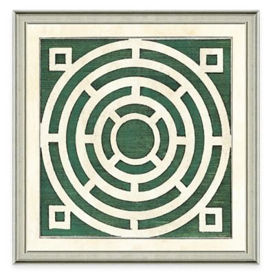 Framed Giclée Green Garden Plan IV Art Print Wall Art
