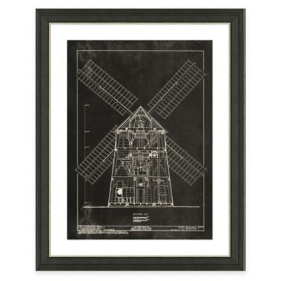 Framed Giclée Windmill Patent II Art Print