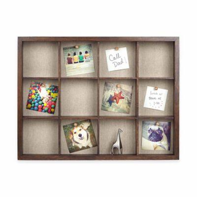 Umbra® 21.8-Inch x 16.5-Inch Grid Wood Shadow Box Frame in Walnut