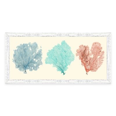 Sea Fan Panel Framed Art Print