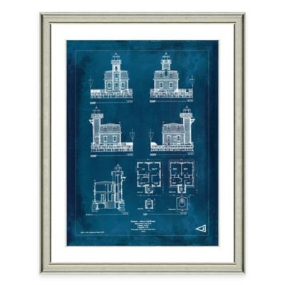 Framed Giclée Athens Lighthouse Patent Print Wall Art