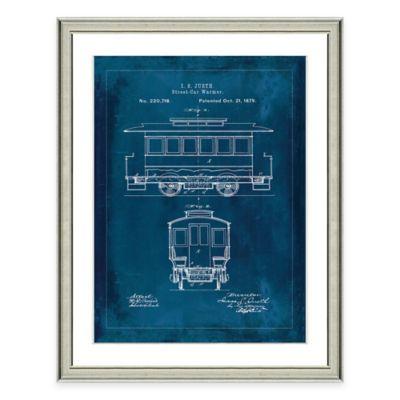 Framed Giclée Street Car Patent Print Wall Art