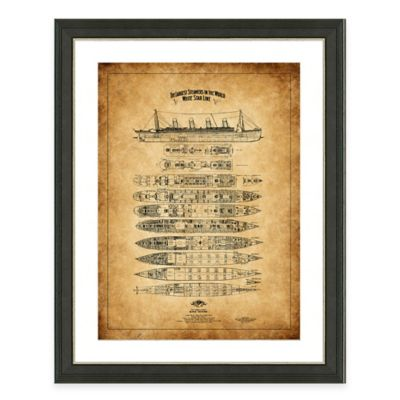 Framed Giclée Titanic Heritage Patent Print Wall Art