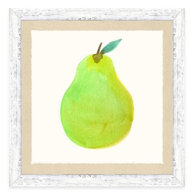 Framed Giclée Water Color Pear Print Wall Art