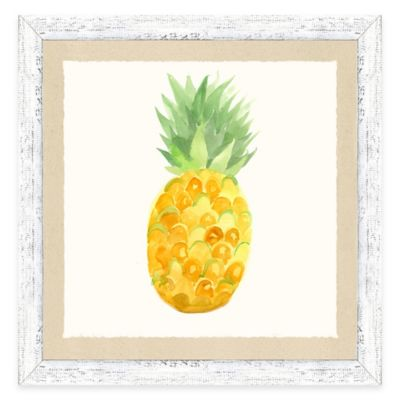 Framed Giclée Water Color Pineapple Print Wall Art