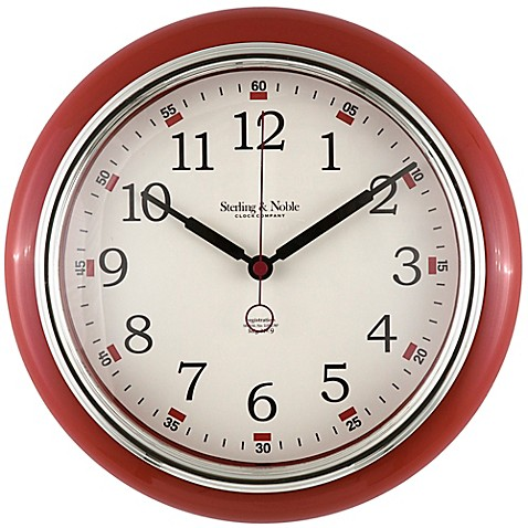 Sterling Amp Noble Retro Diner Wall Clock In Red Www