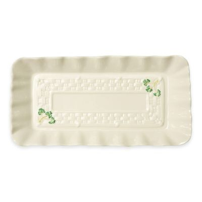 Belleek Shamrock Sandwich Tray